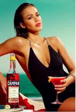 Jessica Alba imagen de Campari 2009
