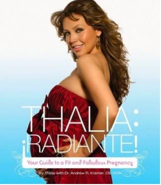 Thalía Radiante y embarazada