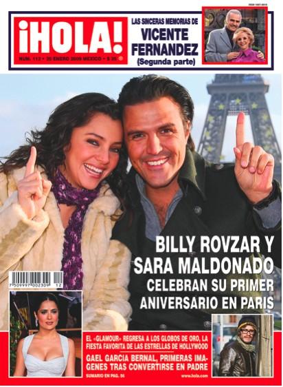 Billy Rovzar y Sara Maldonado en Revista HOLA