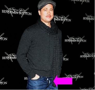 Brad Pitt con el zipper abajo