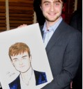 Daniel Radcliffe con su retrato