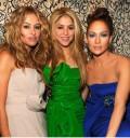 Paulina Rubio shakira y Jennifer Lopez