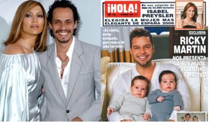 Jennifer López y Marc Anthony podrían ser los padrinos de los hijos de Ricky Martin