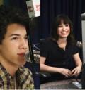 Nick Jonas y Demi Lovato en disney Radio