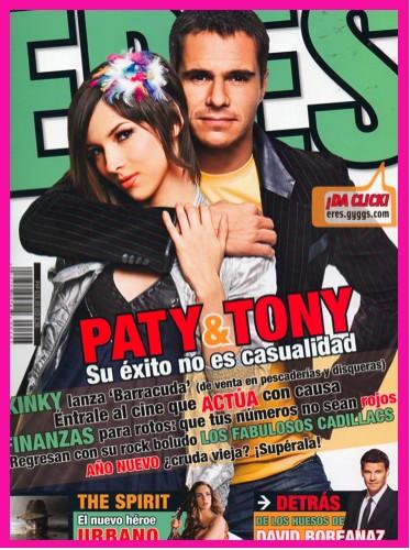 Tony Dalton y Paty Cantú en Revista ERES