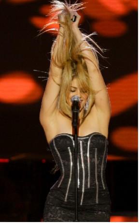 Shakira en la fiesta de Inauguración Presidencial de E.U.