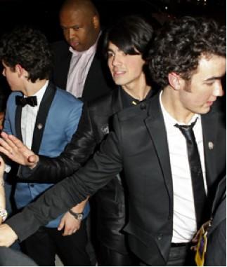 Jonas Brothers en el estreno de 3D Concert Experience