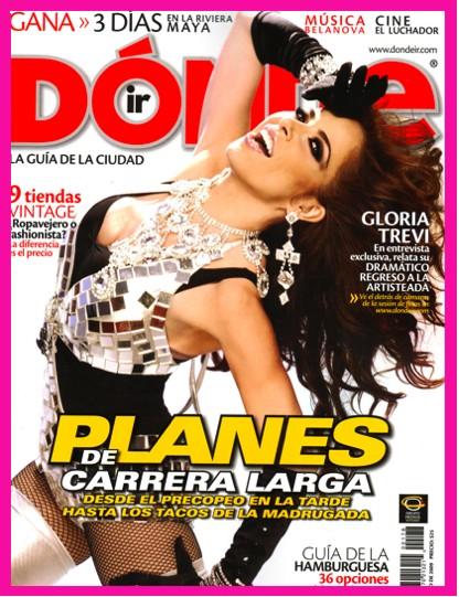 Gloria Trevi en Revista Dónde ir