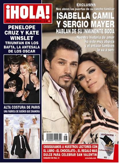 Isabella Camil y Sergio Mayer en HOLA
