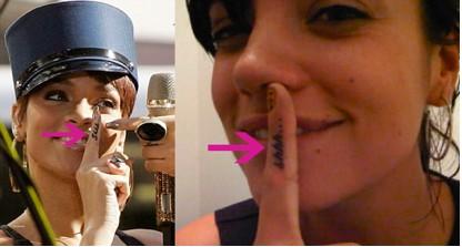 Lily Allen con el mismo tatuaje que Rihanna