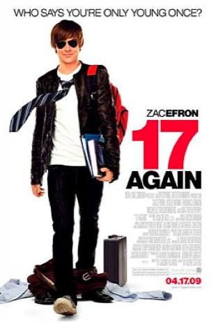 Póster y trailer 17 again con Zac Efron
