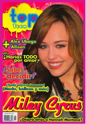 Miley Cyrus en Revista Top Teen
