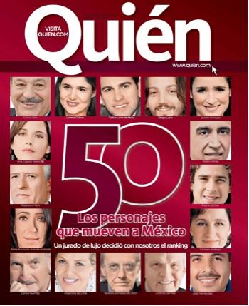 50 personajes que mueven a México en Quién