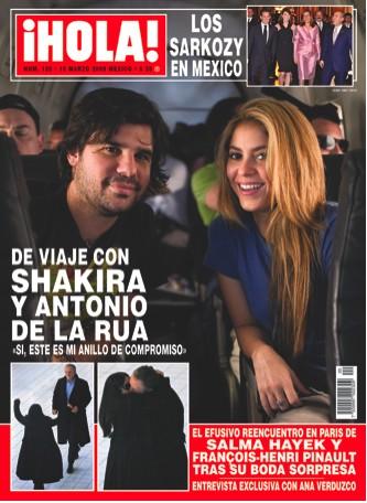 Shakira y Antonio de la Rúa en Revista ¡HOLA!