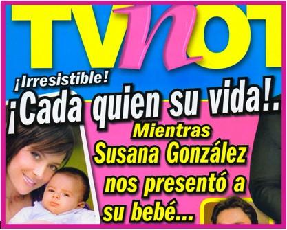 Susana González presentó a su hijo en la Revista Tv Notas