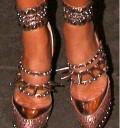 Victoria Beckham zapatos dorados