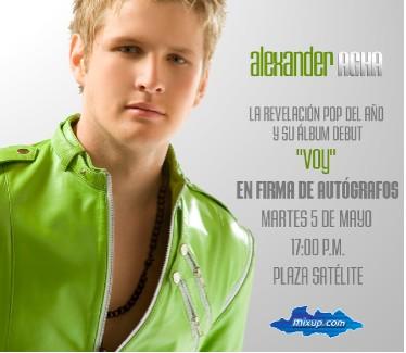 Cancelan Firma de Autógrafos de Alexander Acha
