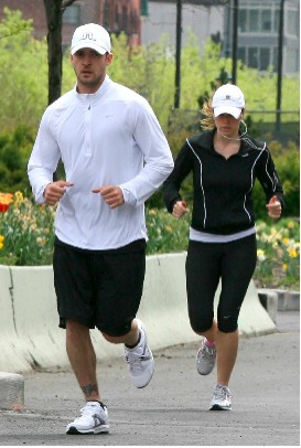 Justin Timberlake y Jessica Biel muy deportistas