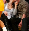 Jessica Biel besando a Justin Timberlake