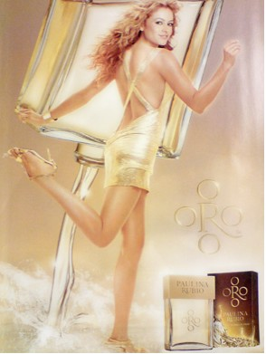 Oro perfume de Paulina Rubio