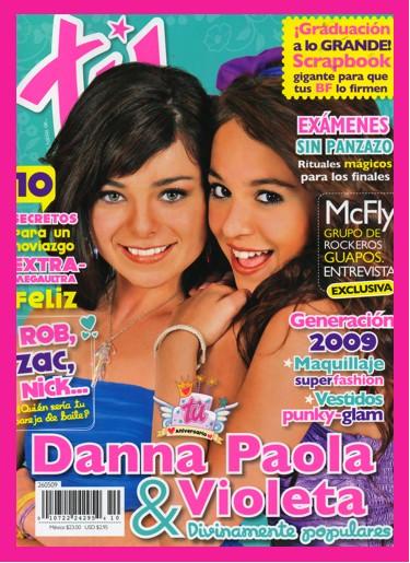 Danna Paola y Violeta en Revista Tú