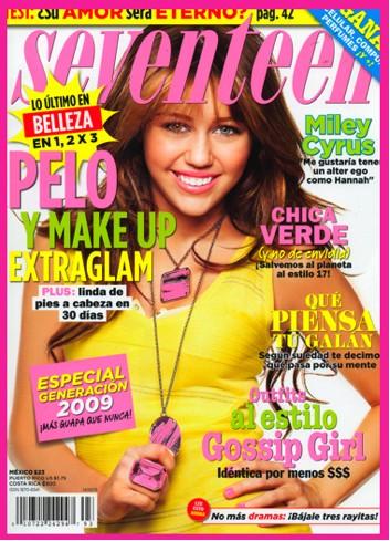 Miley Cyrus en Revista Seventeen