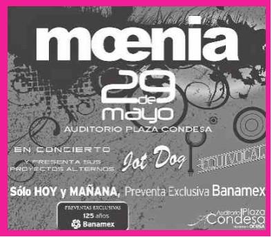 Moenia 29 de mayo en la Condesa