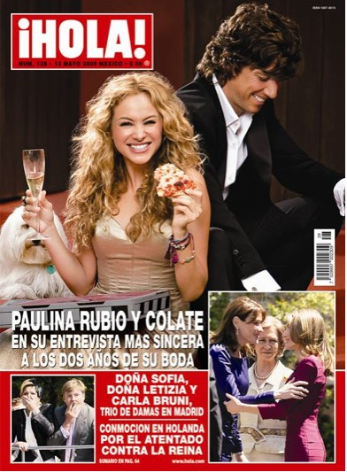 Paulina Rubio y Colate en Revista HOLA