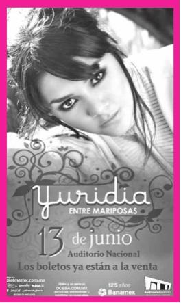 Yuridia en el Auditorio Nacional 13 de Junio