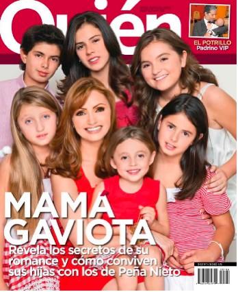 Angélica Rivera en Revista Quién con sus hijos y los de Peña Nieto