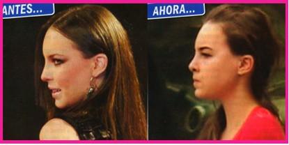 Belinda con la nariz operada en Revista TV Notas
