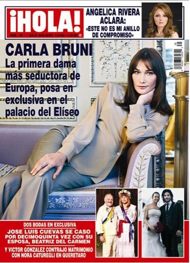 Carla Bruni en Revista HOLA