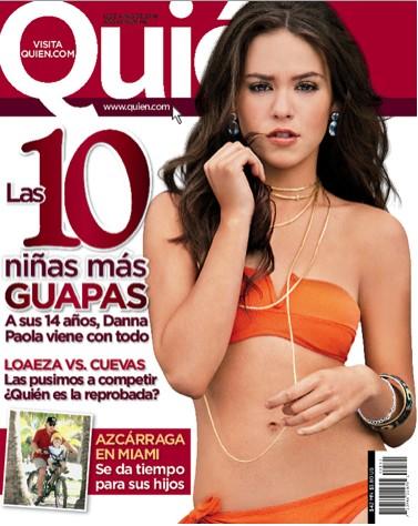 Danna Paola una de las 10 niñas más guapas en Quién