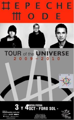 Depeche Mode en el Foro Sol 3 y 4 de octubre