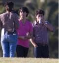 Jonas Brothers en rodaje del video Send it on