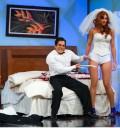 Cecilia Galeno y Omar Chaparro en Hazme Reír