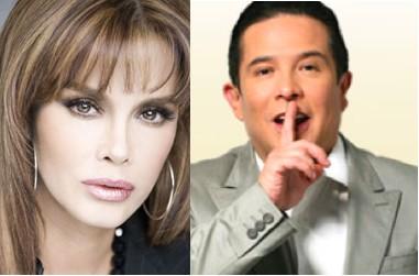 Lucía Mendez molesta con Gustavo Adolfo Infante