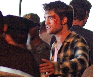 Robert Pattinson durante la grabación de Remeber Me