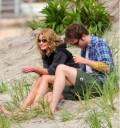 Robert Pattinson y Emilie de Ravin Remember me