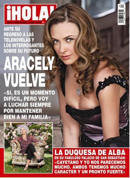 Aracely Arámbula en Revista HOLA