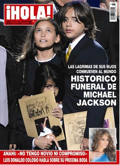 Funeral Michael Jackson en Revista HOLA