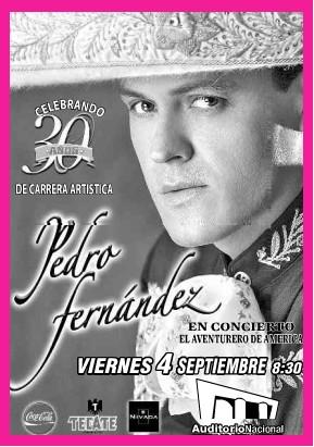 Pedro Fernández en el Auditorio Nacional
