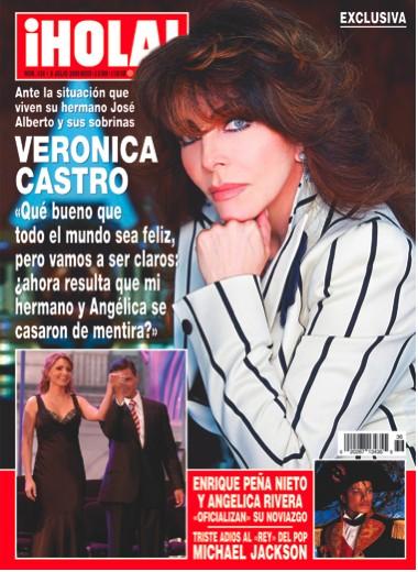 Verónica Castro en Revista ¡Hola!