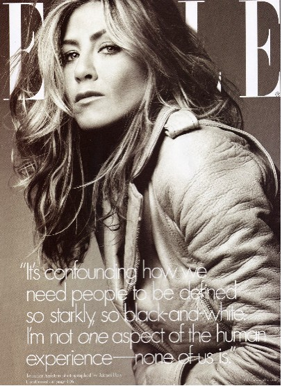 Jennifer Aniston en Revista Elle