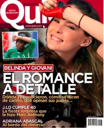 Belinda habla de Giovani en Revista Quién
