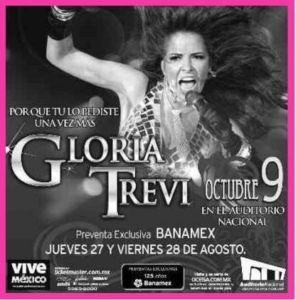 Gloria Trevi en el Auditorio Nacional 9 de Octubre