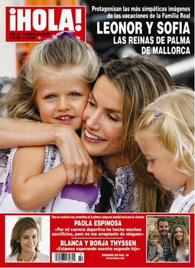 Leonor y Sofia en Revista Hola