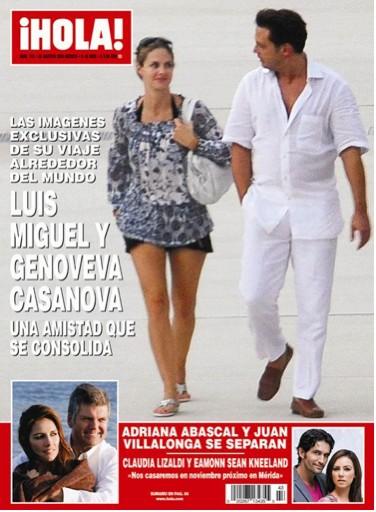 Luis Miguel con Genoveva en Revista HOLA