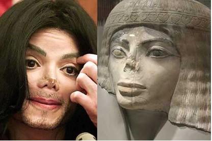 Michael jackson parecido a Esfinge