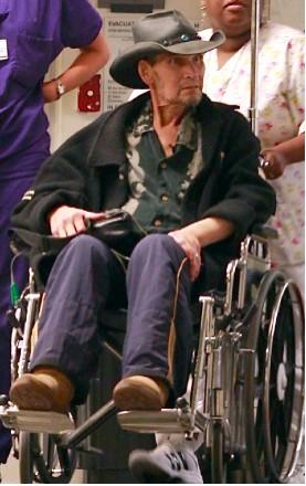 Patrick Swayze en silla de ruedas